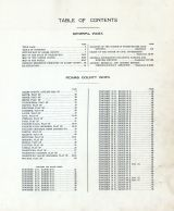 Table of Contents, Adams County 1912