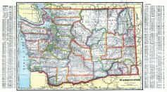 Washington State Map, Adams County 1912