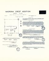 Madrona Crest Addition - Sheet 1, King County 1945 Vols 1 and 2