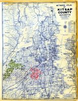 County Outline Map, Kitsap County 1955
