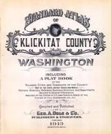 Title Page, Klickitat County 1913 Version 1