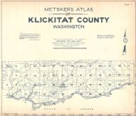 Title Page and Index Map, Klickitat County 1934