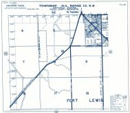 Township 18 North - Range 3 East., Fort Lewis - Page 051, Pierce County 1965 Version 1 - 2 to 4 inches to a mile
