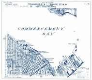 Township 21 North - Range 3 East., Commencement Bay, Old Tacoma - Page 056, Pierce County 1965 Version 1 - 2 to 4 inches to a mile