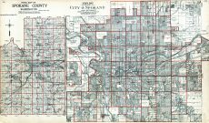 Index Map - Spokane City 1, Index Map - County, Spokane County 1912