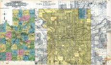 Index Map - Spokane City 2, Outline County Map, Spokane County 1912