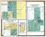 Spangle, Section 4 - Part, Evergreen, Newlon's Acre Tracts, Spokane County 1912