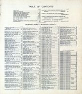 Table of Contents, Index 1, Spokane County 1912