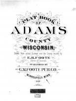 Title Page, Adams County 1900