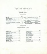 Table of Contents, Adams County 1919