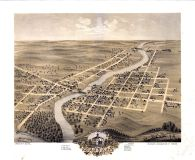 Anoka 1869 Bird's Eye View 24x29, Anoka 1869 Bird's Eye View