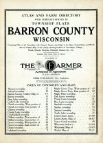 Title Page and Index, Barron County 1914