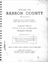 Title Page, Barron County 1966