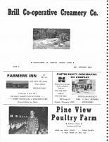Brill Coop Creamery Co., Farmers Inn, Chetek Equity Coop Oil Co., Pine View Poultry Farm, Barron County 1978