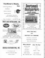 VanMeter's Meats, Rice Lake Retreading, Herold Distributing, Sportsmen's Headquarters, Brill Feed Mill, Barron County 1978
