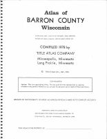 Title Page, Barron County 1978