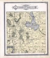 Township 38 N., Range 16 W., Clam Lake, Crooked Lake, Fish, Big Doctors,Clear,Elbow, Burnett County 1915