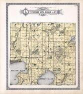 Township 40 N., Range 16 W., Oakland, Yellow Lake, Loon, Minnie, Crooked, Johnson, Connor's Lake, Frensted, Burnett County 1915