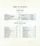 Table of Contents, Calumet County 1920