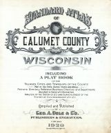 Title Page, Calumet County 1920