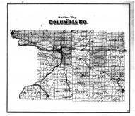 Columbia County Outline Map, Columbia County 1873