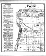 Pacific Township, Portage, Swan lake, Columbia County 1873