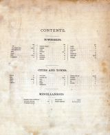 Table of Contents, Columbia County 1890