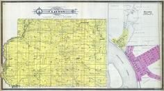 Clayton Township - South, Desoto, Adney, Bell Center, Gays Mills, Kickapoo River, Crawford County 1901-1902