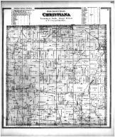 Christiana Township, Cambridge, Clinton, Utica PO, Dane County 1873