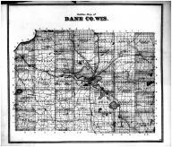 Dane County Outline Map, Dane County 1873