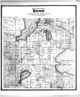 Dunn Township, Mac Farland, Lake Kegonsa, Lake Waubesa, Dane County 1873