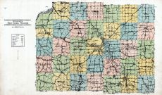 Dane County Outline Map, Dane County 1931