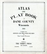 Title Page, Dane County 1931