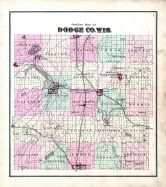 County Outline Map, Dodge County 1873