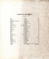Table of Contents, Dodge County 1873