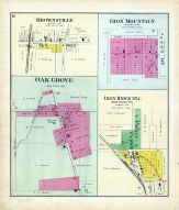 Brownsville, Iron Mountain, Oak Grove, Iron Ridge Station, Dodge County 1890