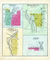Danville, Kekoskee, Birdsey and Ingalsbe's Addition to Columbus,  Alderley, Dodge County 1890