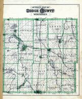 Outline County Map, Dodge County 1890