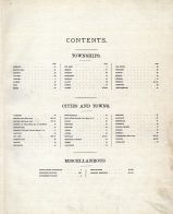 Table of Contents, Dodge County 1890