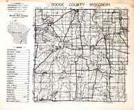 County Map - Index, Dodge County 1950