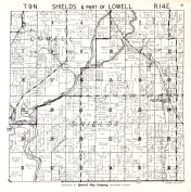 Shields Township, Lowell Township 2, Dodge County 1950