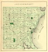 Jacksonport Township, Lake Michigan, Lost Lake, Clarks Lake, Kangaroo Lake, Door County 1899