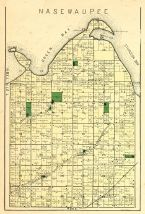 Nasewaupee Township, Green Bay, Sturgeon Bay, Sawyer Harbor, Basin Island, Door County 1899
