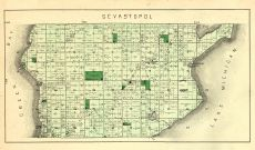 Sevastopol Township, White Fish Bay, Green Bay, Lake Michigan, Valny P.O., Clark Lake, Door County 1899