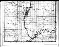Dunn County Outline Map - Below, Dunn County 1888