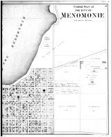Menomonie City - Central Part - Right, Dunn County 1888