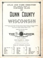 Title Page, Dunn County 1915