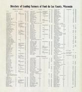 Directory 004, Fond Du Lac County 1910