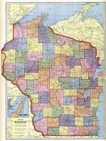 Wisconsin State Map, Fond Du Lac County 1910