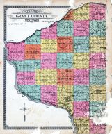 Grant county 1918 wisconsin historical atlas outline county map grant county 1918 sciox Gallery